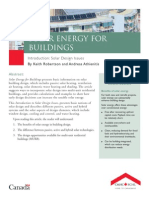 Solar Energy for Buildings