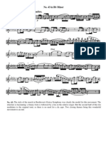 Ferling study for Oboe no. 43 in Bb minor