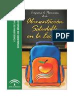 Alimentación saludable en la escuela - Cuaderno