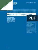HASTELLOY®   C-22HS™alloy