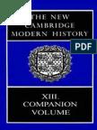 The New Cambridge Modern History Vol. 13 - Companion Volume