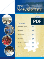 TAPMI Newsletter August2012