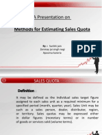 Sales Quota Methods