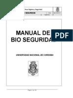 MA AHS-01 Manual de Bio Seguridad