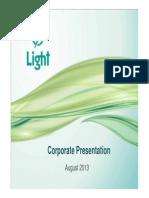 Corporate Presentation Light - September 2013
