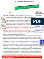 Insurance news You Can Use Newsletter October 2013
