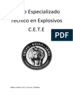 Curso técnico en explosivos