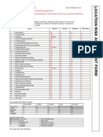 Risk Assessment Form Location 1
