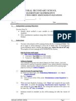 2E NA Instruction Sheet (Homebased ELearning Program)