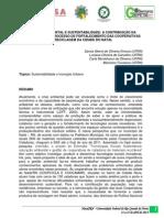 Educação Ambiental e Sustentabilidade - A Contribuição da Universidade no Processo de Fortalecimento das Cooperativas