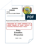 Perfil Campo Deportivo Lucma Huachon