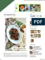 Spicy Eggplant_Brinjal Fry ~ Nalini'sKitchen