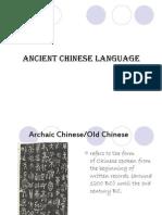 Ancient Chinese Language