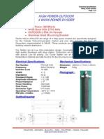 4 Way Splitter 800-2700MHz-HP