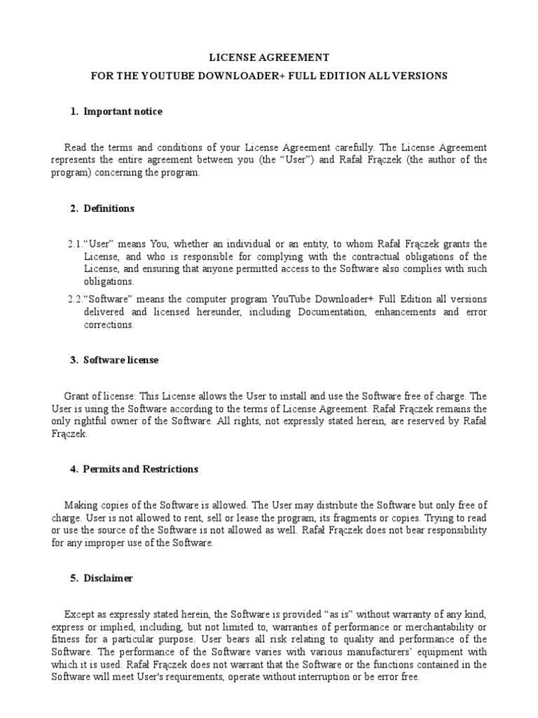 License Full License Private Law
