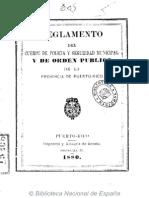 Reglamento de la Policía y Orden Público, PR.