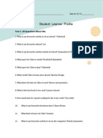 student learner profile