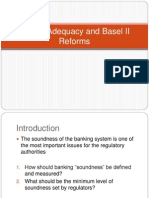 Capital Adequacy and Basel II Reforms