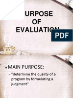 Purpose of Evaluationu