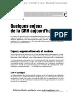 GRH_Chapitre6 Quelque Enjeux