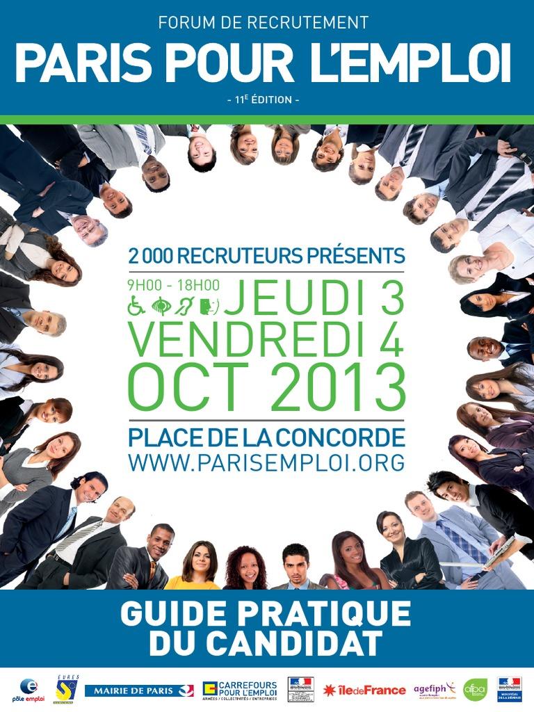 Paris Jobs Fair 2013 Carrefour Pour Emploi