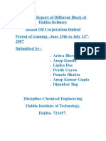Training Report of Different Block of Haldia Refinery