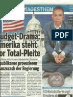 Obama muss betteln