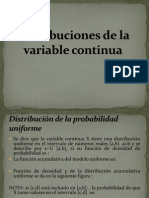 Distribuciones de La Variable Continua