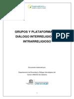 Grupos y Plataformas de Dialogo Interreligioso e Intrarreligioso