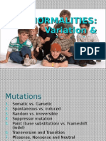 10. Abnormalities, Variation & Mutation