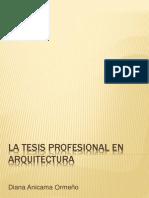Tesis Profesional en Arquitectura