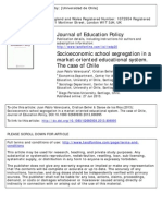 VALENZUELA BELLI DELOSRIOS 2013 Socioeconomic School Segregation in a Marjket Oriented Educational System. the Case of Chile