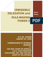 Cases under Permissible Delegation and Rule-making Power