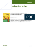 Health and Safety Upper Limb Disorders