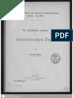 WALLIES, MAX, Die Griechischen Ausleger Der Aristotelischen Topik