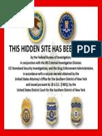 Silk Road Seizure Notice