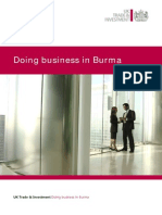 Doing Business in Burma