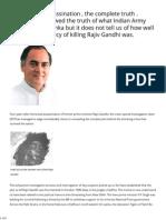 Rajiv Gandhi Assassination , The Complete Truth