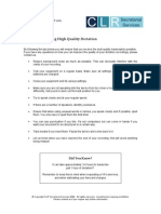 Dictation & Transcription Tips