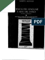 Ciencia Del Lenguaje y Arte Del Estilo. Alonso