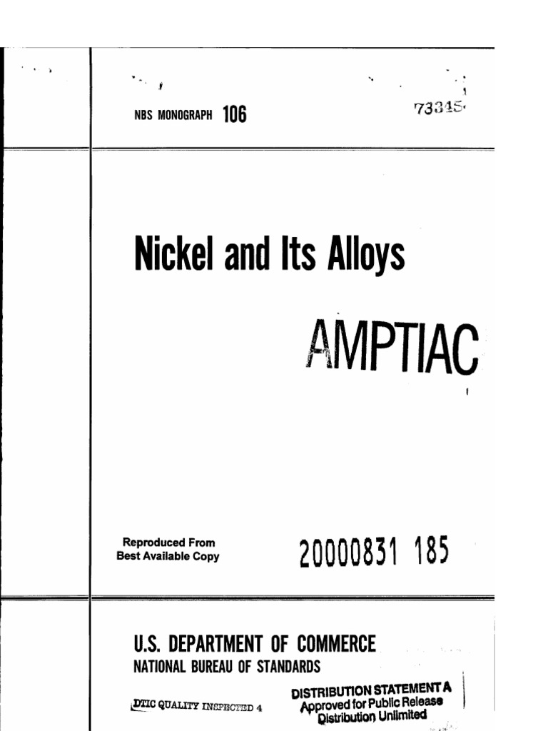 Nickel and Its Alloys | Nickel | Isotope on