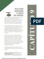 Capitulo 9 Estructura Financiera y Costo de Capital