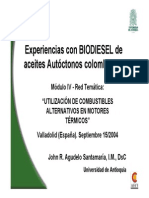 Biodiesel Colombiano