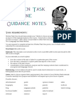 Written Task One Guidance Notes