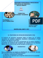 CONDUCTAS en EXCESO Trastorno Negativista Desafiante (1)