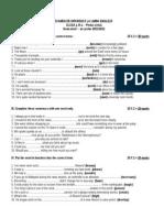 Examen de Diferenta - Engleza - Clasa 9 - Semestrul i - Scris - Ianuarie 2012