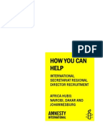Africa Regional Directors - How You Can Help the is Info Pack