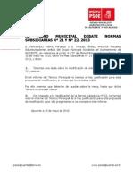 Debate Punto 4 y 5 Normas Subsidiarias 2013