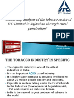 Leadership analysis of the tobacco sector of ITC limited in Rajasthan through rural penetration