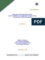 Strategic Business Plan-Final Report- Tarun Das